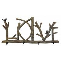 Wooden LOVE coatrack