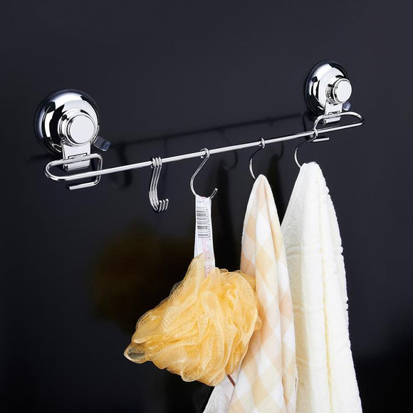 1Pc Bathroom Coat Hook Hanger 6 Hooks Kitchen Wall Hooks Tools Stoarge Rack 304 Stainless Steel Robe Hook Wall Mounted