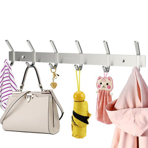 Heavy Duty Stainless Steel Wall Mounted Hook Rack