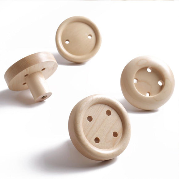 Creative Wooden Button Coat Hooks (Wall Mounted)
