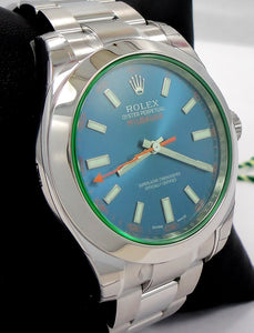 Rolex Oyster Milgauss 116400GV Blue Dial BLUSO PAPERS *UNWORN