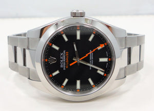 Rolex Milgauss 116400 40mm Oyster Black Dial PAPERS