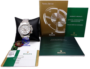 Rolex Daytona 116520 Cosmograph Steel Oyster White Dial 2016!! BOX/PAPERS