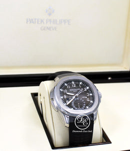 PATEK PHILIPPE AQUANAUT 5164A-001 Travel Time Dual Time Zone Date Watch