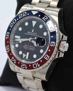 Rolex Oyster Perpetual GMT-Master II 18K White Gold 116719 BLRO PEPSI UNWORN