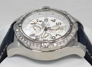 BREITLING Super Avenger A13370 48mm Chronograph 3.50CT Bezel