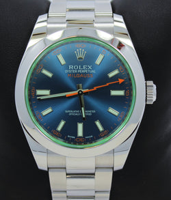 Rolex Oyster Milgauss 116400GV Blue Dial BLUSO PAPERS
