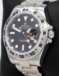 Rolex Oyster Perpetual Explorer II 216570 Black Dial PAPERS
