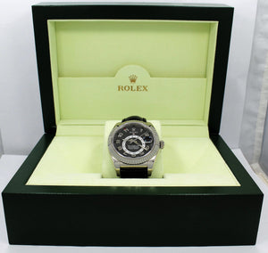 Rolex Sky-Dweller 18K White Gold 326139 BLKARS On Black Lather BOX/PAPERS