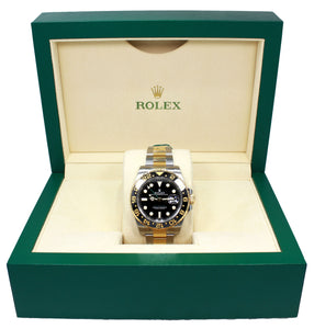 Rolex GMT-MASTER II 116713LN Oyster 18K Yellow Gold /SS UNWORN