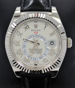 Rolex Sky-Dweller 18K White Gold 326139 IVRRL BOX/PAPERS