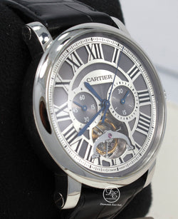 Cartier Rotonde de Cartier Tourbillon W1580007 Platinum Limited Edition BOX/PAPERS