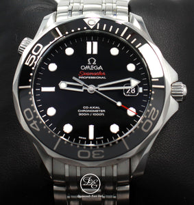 Omega Seamaster Diver 300M Automatic 41mm Watch 21230362001003 BOX/PAPERS  Details:    Make: OMEGA Model: 212.30.41.20.01.003 Seamaster Diver 300M  Movement: Automatic  Includes Everything: The Original Boxes, Tag, All The Links, Booklet, Omega Cards (Papers) Water-Resistance: 100 Meters/ 330 feet Material:  Stainless Steel Case Size: 41mm  Crystal:  Sapphire Crystal  Dial: Black  Dial function: Date Window  Bezel:  Black Bracelet: Stainless Steel  Clasp:  Deployment Buckle