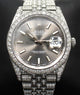 Rolex Datejust 41mm 126300 Jubilee Rhodium Dial All Covered With Diamonds ICED OUT BOX/PAPERS