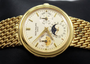 PATEK PHILIPPE Perpetual Calendar Moon 3945/001J 18k Yellow Gold Watch