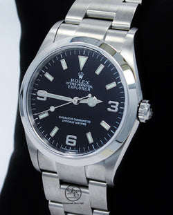 Copy of Rolex Explorer I 114270 Stainless Steel Oyster Black Dial Watch