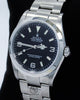 Rolex Explorer I 114270 Stainless Steel Oyster Black Dial Watch