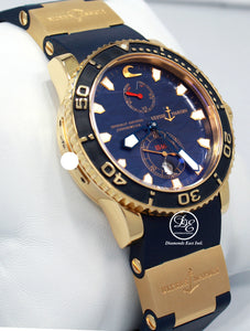 Ulysse Nardin Maxi Marine Blue Surf LIMITED EDITION 266-36LE 18k Rose Gold BOX/PAPER