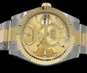 Rolex Sky-Dweller 18k Yellow Gold/SS SS326933 UNWORN