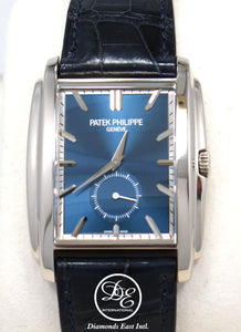 PATEK PHILIPPE Gondolo 5124G 18K White Gold Blue Sunburst Dial *MINT CONDITION*