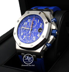 Audemars Piguet Royal Oak Offshore Blue INDIGO Chronograph Special Edition 26470ST.OO.A030CA.01 *UNWORN*