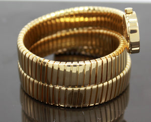 BULGARI BVLGARI Serpenti Tubogas Snake 18K Yellow Gold BB191T *MINT CONDITION* BOX/PAPERS