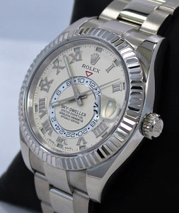 Rolex Sky-Dweller 18K White Gold Ivory Dial 326939 IVRRRO BOX/PAPERS