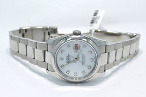 Rolex Datejust 116200 36mm  Diamond Mop Dial Oyster Perpetual