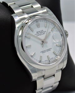 Rolex Datejust 116200 36mm White Stick Dial Oyster Perpetual UNWORN