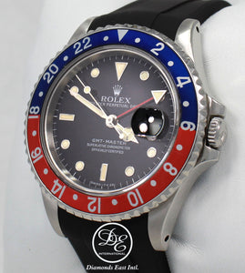 Rolex GMT MASTER PEPSI 16700 BLUE/RED 40mm Steel Oyster Black Rubber B