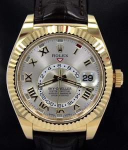 Rolex Sky-Dweller 18K Yellow Gold 326138 BOX/PAPERS
