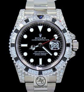 Rolex Oyster Perpetual GMT-Master II 18K White Gold 116719 Diamonds & Sapphires Bezel