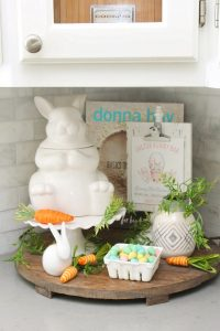 Check out these simple spring and Easter kitchen decor ideas to add a pretty touch to your kitchen space