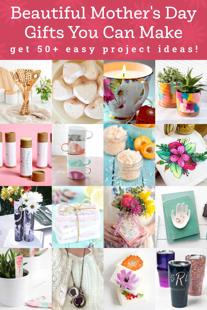 I love my mom, but she's hard to shop for – however, she does love DIY Mother's Day gifts! if you are in the same boat, check out these 50+ project ideas.