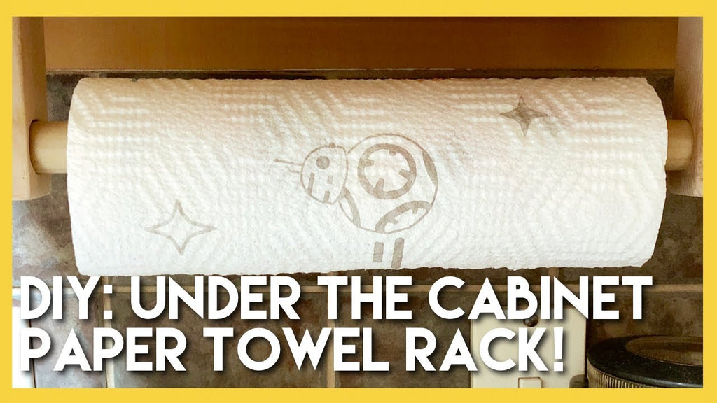 Today's blog is a shorty but a goody! Jared whipped up an under the cabinet paper towel holder for our kitchen, and we wanted to share how he did it! It's pretty ...
