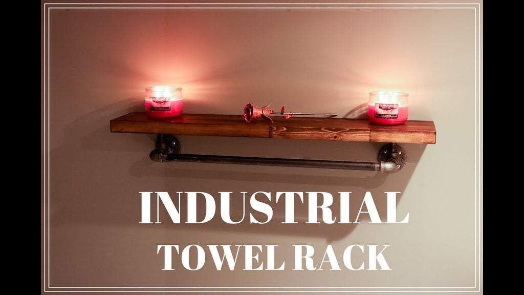 Easy and elegant Industrial Towel Rack