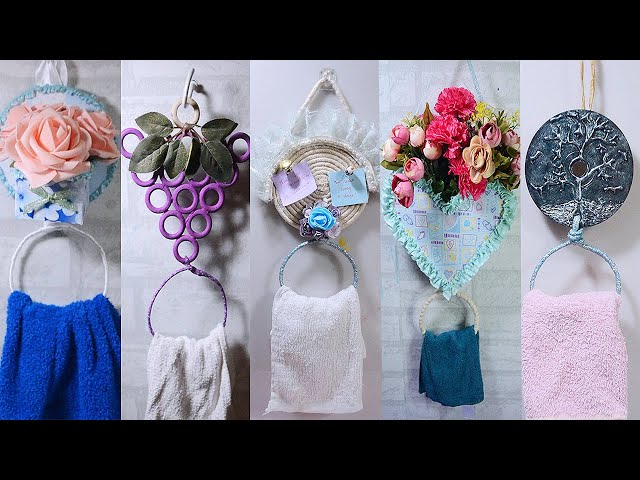 5 #IDEAS HANGING RING #TOWELHOLDER ! Watch my channel for diy, crafts, paper crafts, recycle crafts, room decor, how to and more.