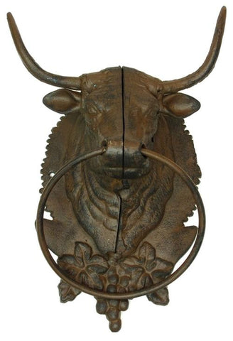 Cast Iron Bull Towel Holder  Hat Rack