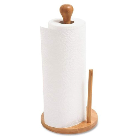 QI Bamboo Vertical Countertop Paper Towel Holder Stand (10626)