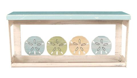 "Sand Dollar Nautical 18"" Towel Bar Shelf"
