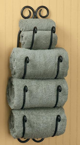Scroll Bath Towel Holder