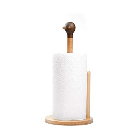 Kitchen Paper Towel Holder for Countertop, Wood Paper Towel Dispenser for Kitchen and Home Décor