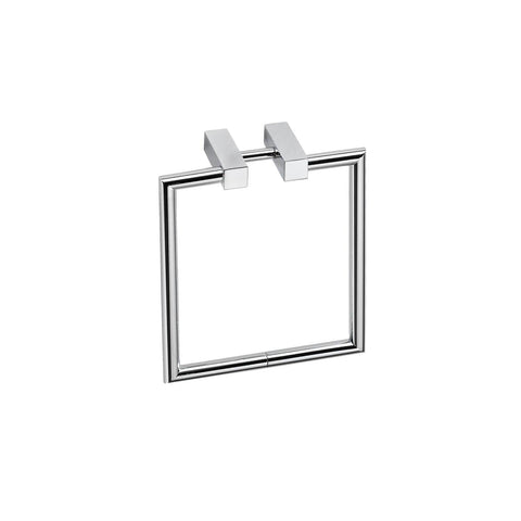 Pomdor Metric Wall Mounted Chrome Towel Ring Holder Bath Hand Towel Holder