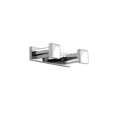 Pomdor Metric Wall Towel Robe Double Hook Hanger for Bath Towel Holder Chrome