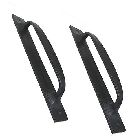 (2) 11  Flat Iron Handles - Ds-01 For Gate, Garage, Closet, Cabinet, Sliding Barn &Amp; Shed Doors - In Vintage Black Wrought Iron Finish For Interior &Amp; Exterior Designing - (2) Handles