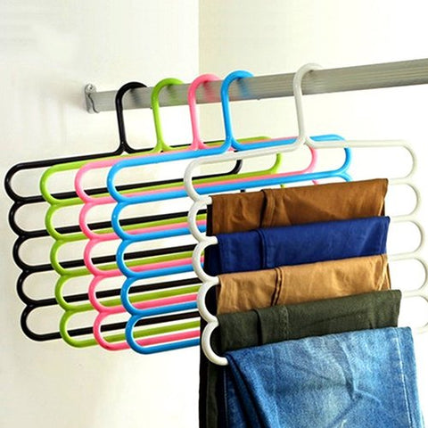 Afco 5Layer Multifunctional hanger holder for socks tie scarf belt mufflers organization Rack size 34.5cm x 35cm (Random)