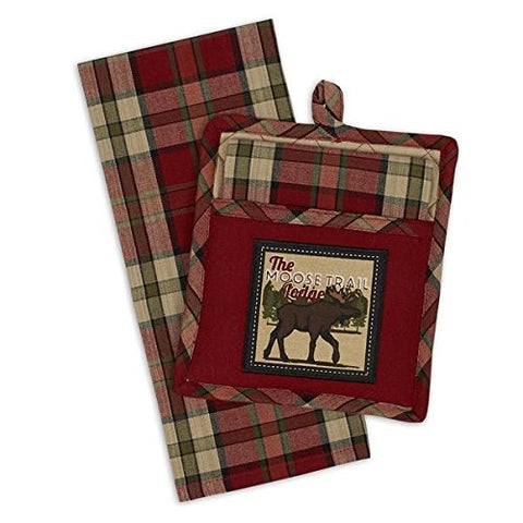 Design Imports DII Moose Trail Lodge Potholder Gift Set