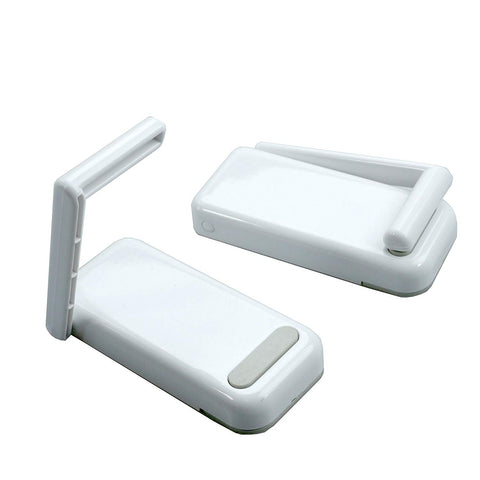 JBS Magnetic Paper Towel Holder Table Napkin Roll Holder Mounts Securely on Refrigerators & Other Metal Surfaces White