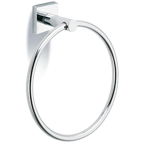 Lux Sidney Wall Mounted Towel Ring Holder Bath Hand Towel Holder, Brass