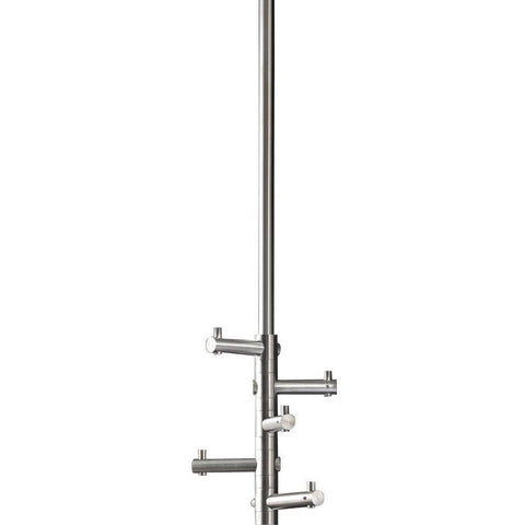 PSBA Ceiling Hook Hanger for Bath Towel, 5-hooks 33.5-inch Stainless Steel Matte